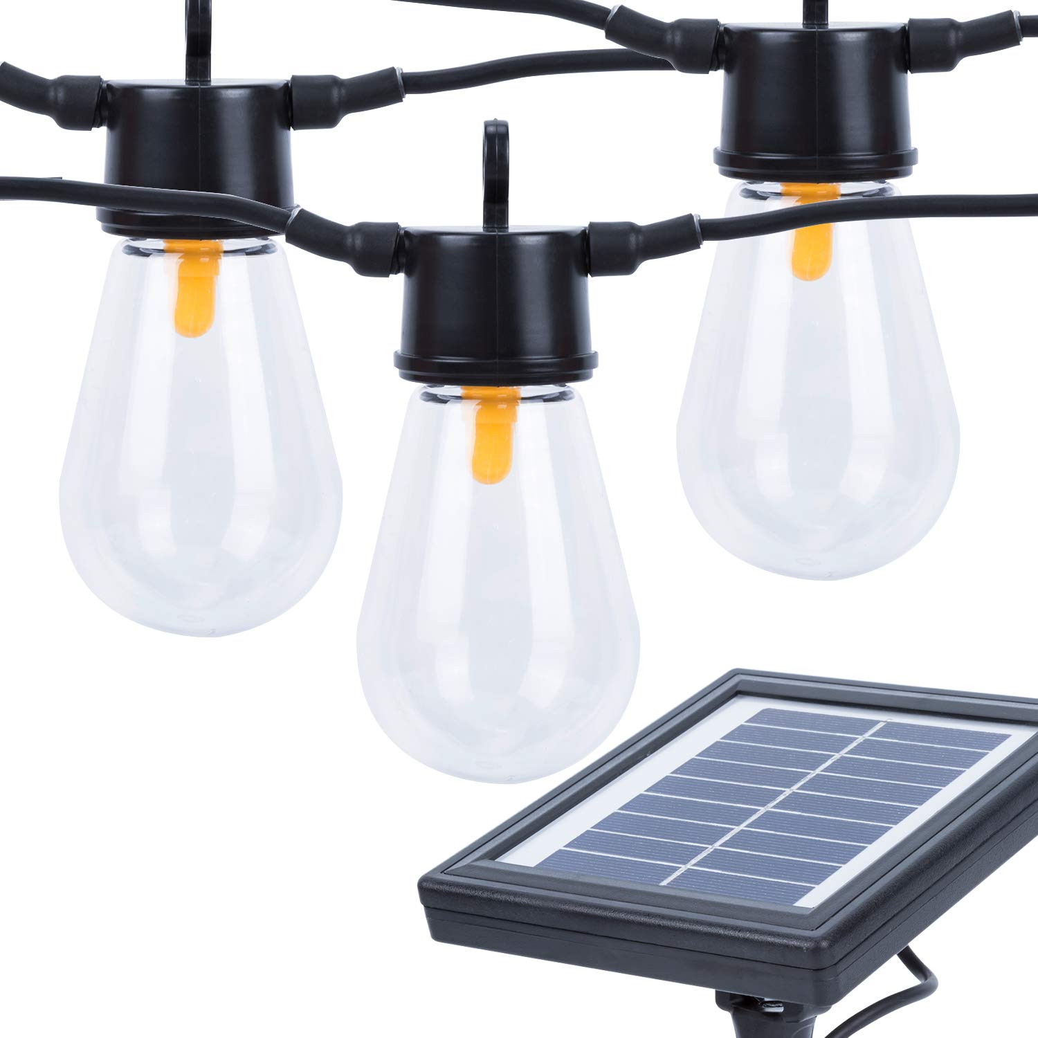 Ideaworks Outdoor Solar String Led Lights: Karecel Solar Powered LED Outdoor Solar String Lights