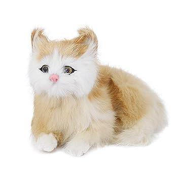 Ornamento del gato - Simulación Polietileno Forma de gato Estatua ...