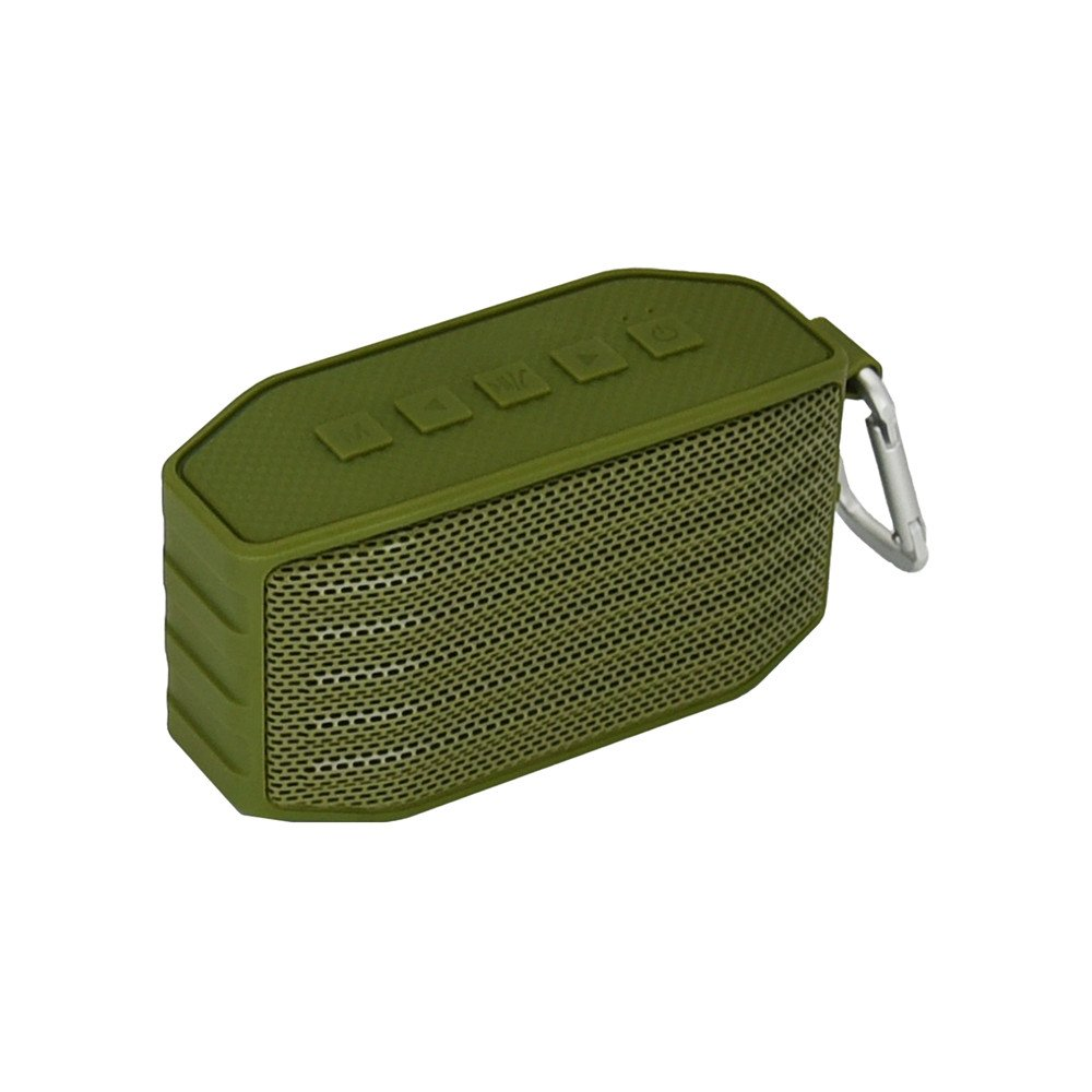 HUINING Portable Wireless Bluetooth Speaker with Waterproof IPX4,Built-in Mic,Dual-Driver Speakerphone with Low Harmonic Distortion and Superior Sound,Pefect for Home Travel Beach Shower(Army Green) by HUINING