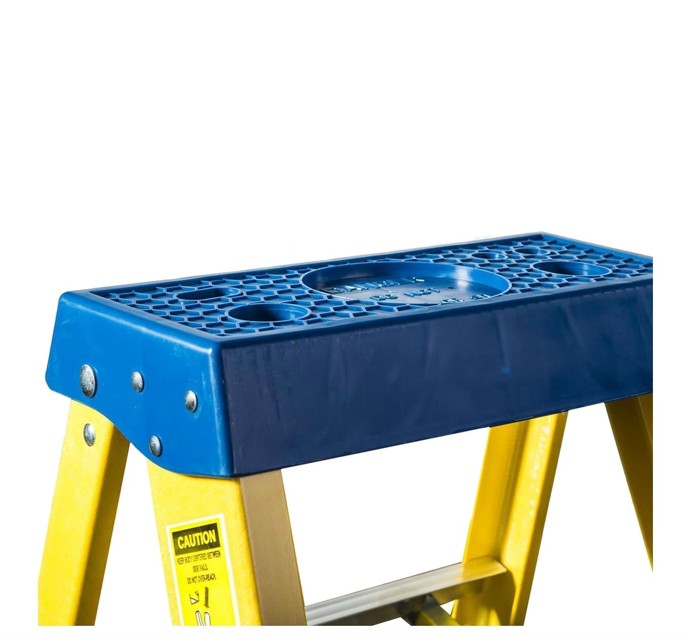 8 Tread DJM Direct Electricians Heavy Duty Tread EN131 Fibreglass Step Ladder 30000v