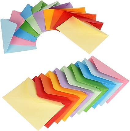 50sets dimension carte 10,5x15 cm dimension enveloppes 11,5x16,5 cm blanc Cartes /& Enveloppes