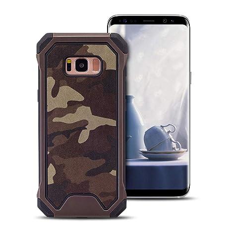 MOEVN Armor Funda para Samsung S8 Plus, Galaxy S8 Plus Carcasa Camuflaje PC + TPU 2 en 1 Silicone Cover Protección Duro Caso Choque Amortiguador ...