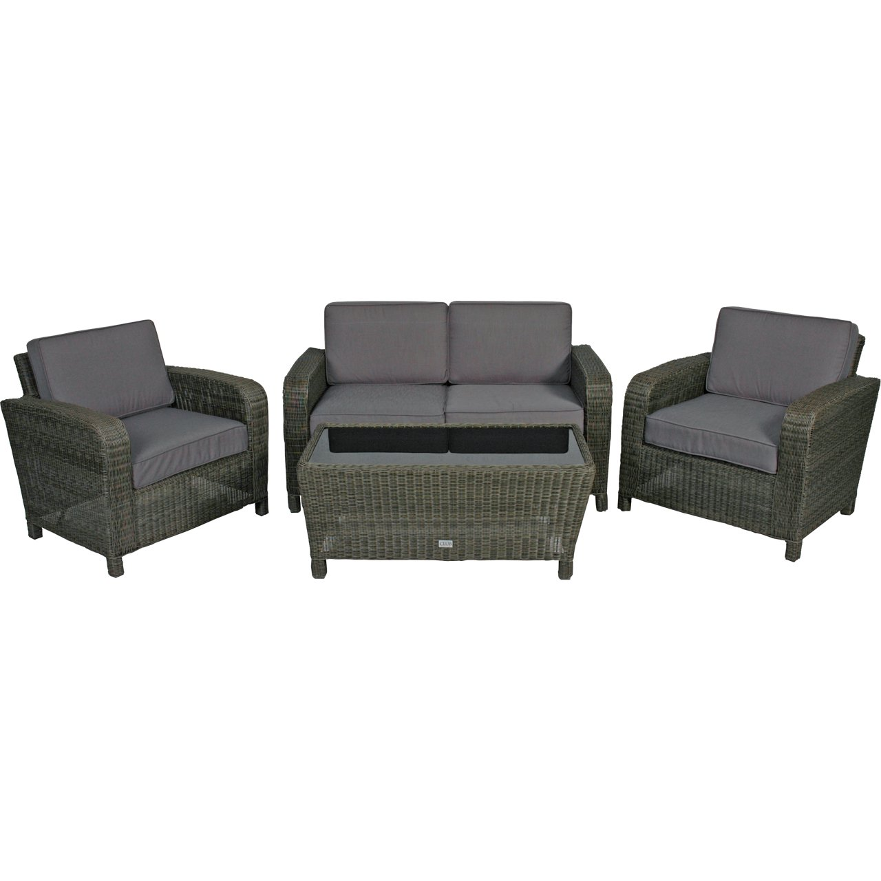poly rattan lounge set 4tlg taupe gartenm bel tisch glasplatte g nstig online kaufen. Black Bedroom Furniture Sets. Home Design Ideas