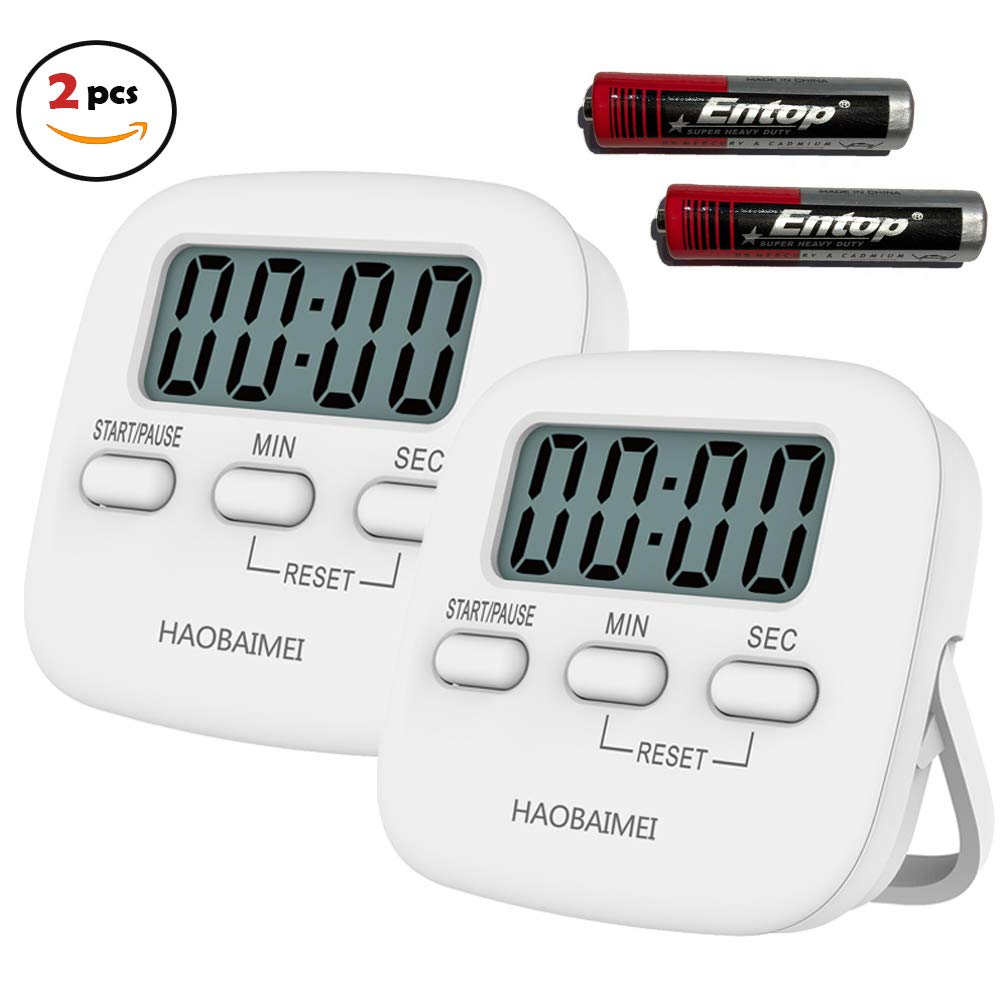 Timer Kitchen Timer 10 Minute Timing with 80dB Alarm Sound Magnetic Countdown Timer Home Baking Cooking Steaming Twist Manual Timer Stainless Steel Face Mechanical Hair Rotate Timer 10 Min