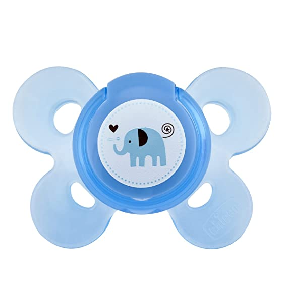 Chicco NaturalFeeling - Set de regalo con 2 biberones y chupete de silicona para bebé de 0 meses en adelante, color azul