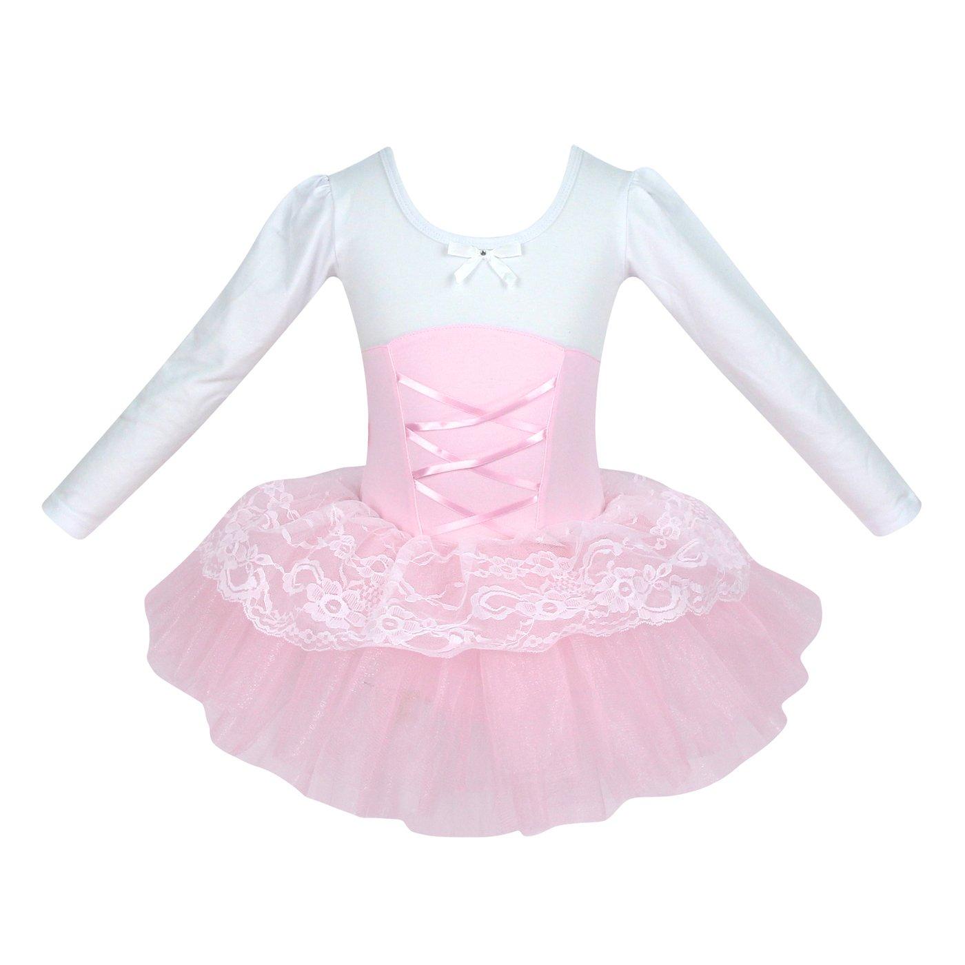 VENI MASEE Prinzessin Design Langen Ä rmeln/Short-Ä rmeln Zweiteilige Ballett-Ballettrö ckchen -Kleid, Grö ß e 4-8 R-1-2BRD-1055