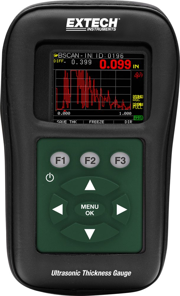 Extech TKG250 Digital Ultrasonic Thickness Gauge Datalogger with Color Waveform