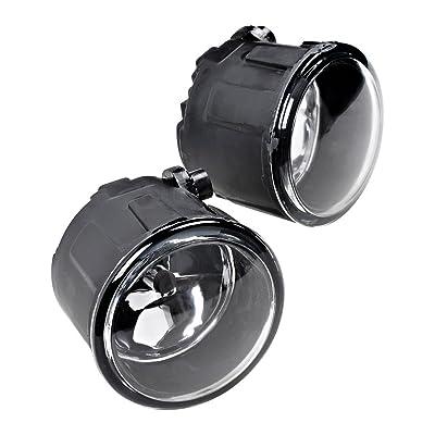 2pcs Fog Light Front Bumper + H11 Halogen Bulb Compatible with Nissan Cube Juke Murano Quest Rogue Versa: Automotive