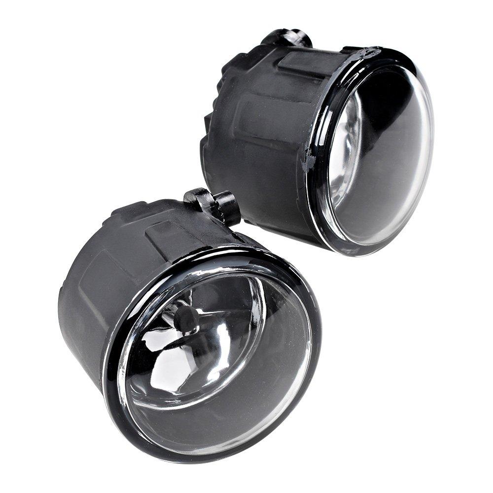 2pcs Fog Light Front Bumper + H11 Halogen Bulb For Nissan Cube Juke Murano Quest Rogue Versa