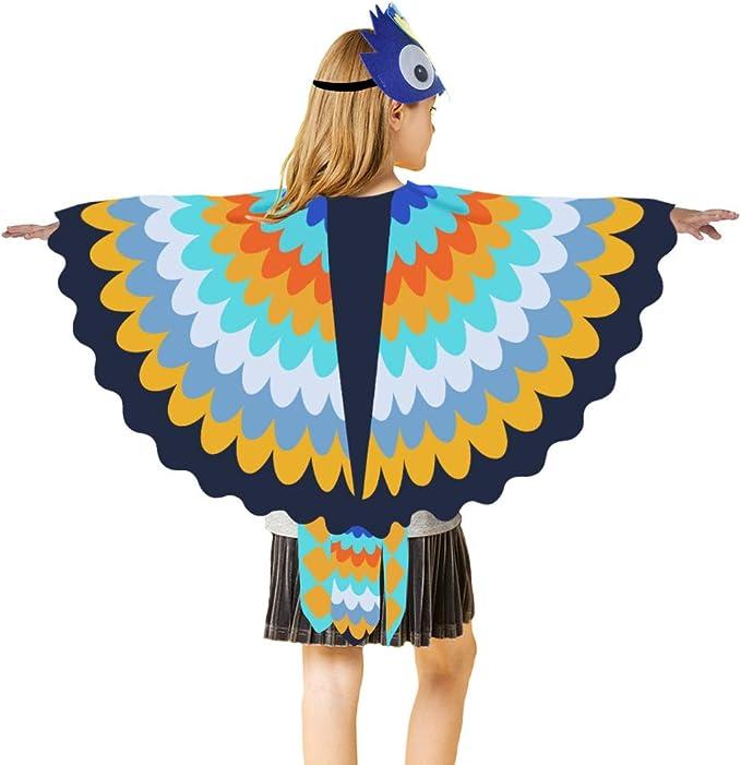 Amazon.com: Disfraz de pájaro para niños, chal de búho con ...