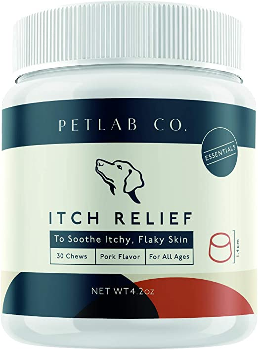 Petlab Co. Itch Chews for Dogs   Treats Designed for Itchy Dogs   May Help with Uncomfortable Skin Conditions   Turmeric Curcumin, Omega 3 & 6, Honey