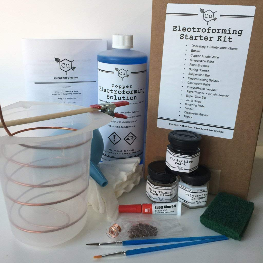 Electroforming Kit - Learn How to Electroform in Copper - Cu Electroforming Starter Kit