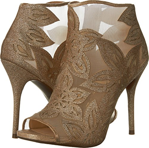 Jessica Simpson Women's Bliths Ankle Bootie, Moet-Lights, 8 Medium - Gold Jessica