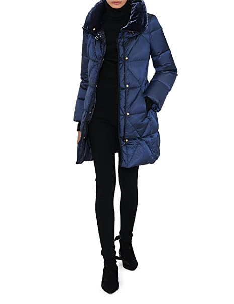 lowest price d36a3 5b82b Fay Piumino Lungo Blu, Donna, Taglia XL.: Amazon.it ...