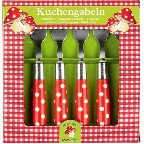 Spiegelburg 10327 Kuchengabeln Fröhliche Tupfen (6 Stck.)