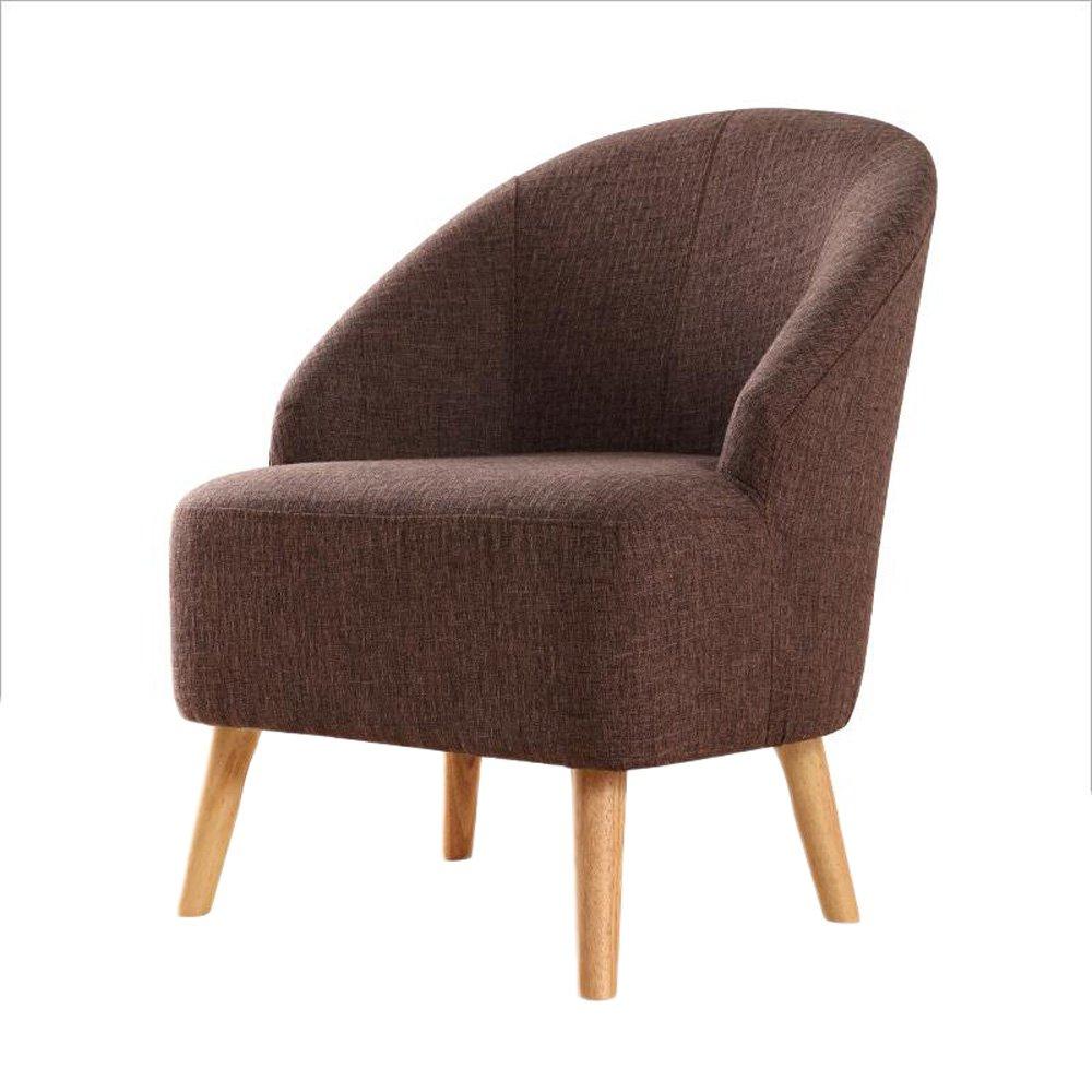 G-Y Faules Sofa, Nordischer Moderner Minimalistischer Sofa-Stuhl, Einzelnes Wohnzimmer, Das Stuhl Speist (Farbe : Braun)