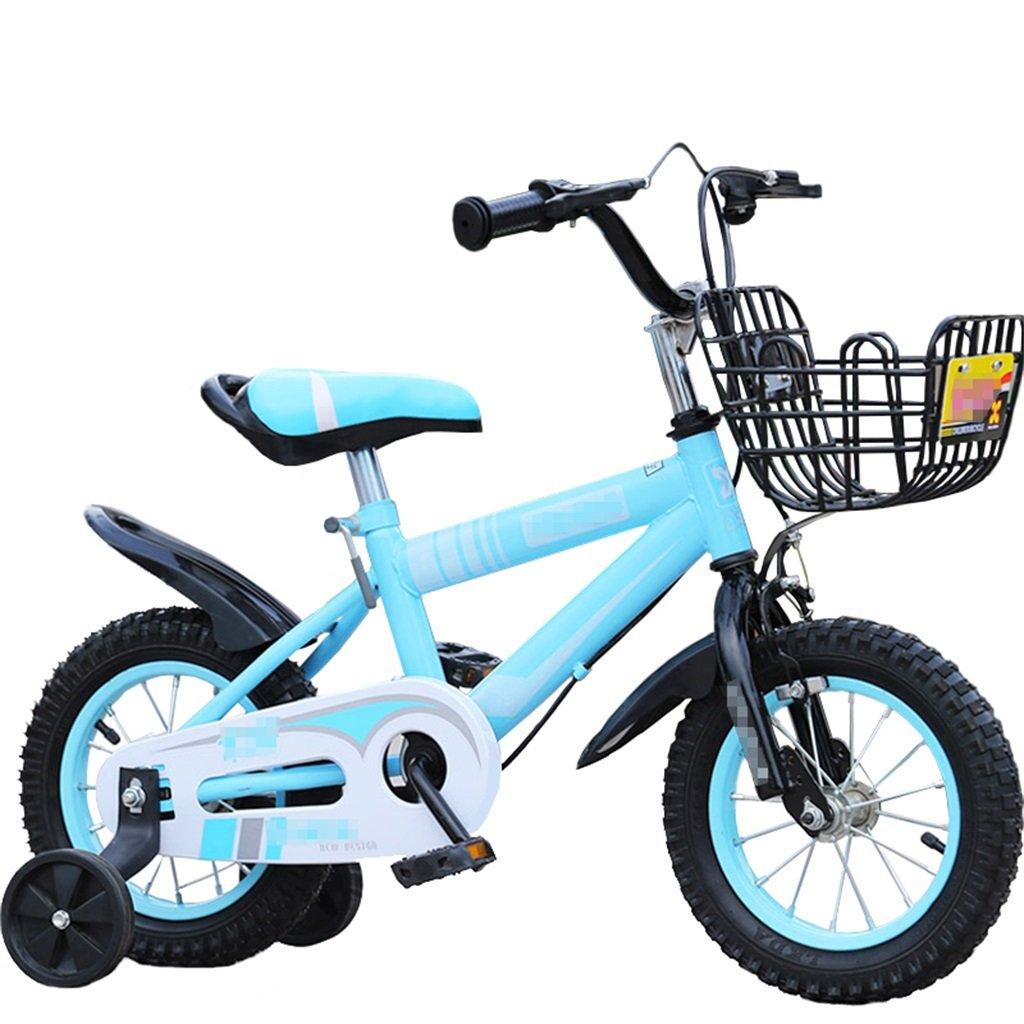 KANGR-子ども用自転車 子供用自転車マウンテンバイクに適した2-3-6-8少年少女キッズ玩具ハンドルバー/サドル高さはトレーニングホイールで調節可能-12 / 14/16/18インチ ( 色 : 青 , サイズ さいず : 18 inches ) B07BTWLLCT 18 inches|青 青 18 inches