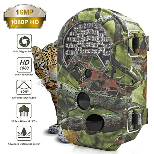The perseids 16MP Trail Camera 1080P 120 Degree Wide Angle with 2.0 LCD Game & Hunting Camera with 940nm Upgrading IR LEDs Night Vision up to 65ft20m IP54 Waterproof for Wildlife Hunting Monitoring