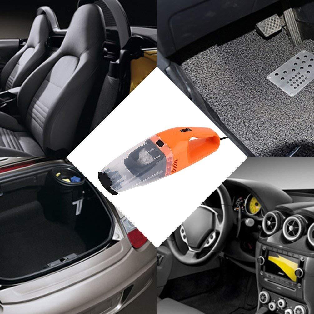 Alta Velocidad 1 tama/ño seco y h/úmedo para Oficina en casa para autom/óviles Recargable port/átil Amarillo de Uso Dual Pr/áctico aspiradora port/átil de 100 W
