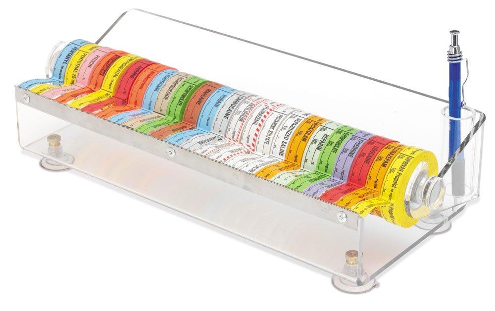 clearform ml1548 acrílico transparente etiqueta de medicamentos dispensador de cinta, con capacidad para 24 rollos: Amazon.es: Amazon.es