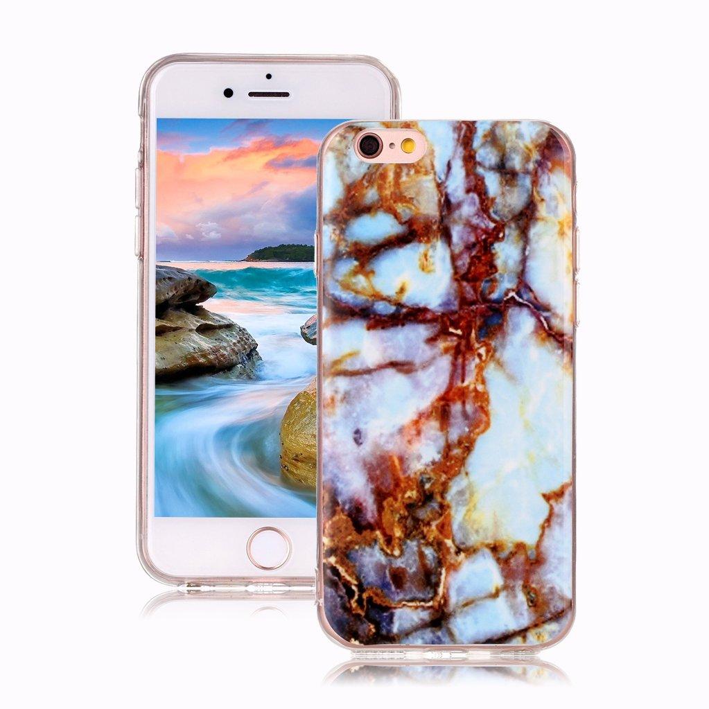 Mar Azul//Dorado iPod Touch 5 Case Dise/ño M/ármol Carcasa Suave Goma Silicona Soft Marble Case Suitable for Textura de Piedra Natural Yunbaoz Funda Compatible para iPod Touch 6 M/ármol
