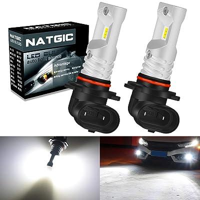 NATGIC 9005 HB3 LED Bulbs Super Bright 1700LM 6500K CSP LED Chipsets for Fog Lights, Automotive Driving Lamps, Daytime Running Lights, 12V-24V, White (Pack of 2): Automotive