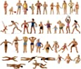 P8720 40pcs Model Trains Swimming Figures 1:87 Scale HO Scale People Scenery Layout Landscape Miniature