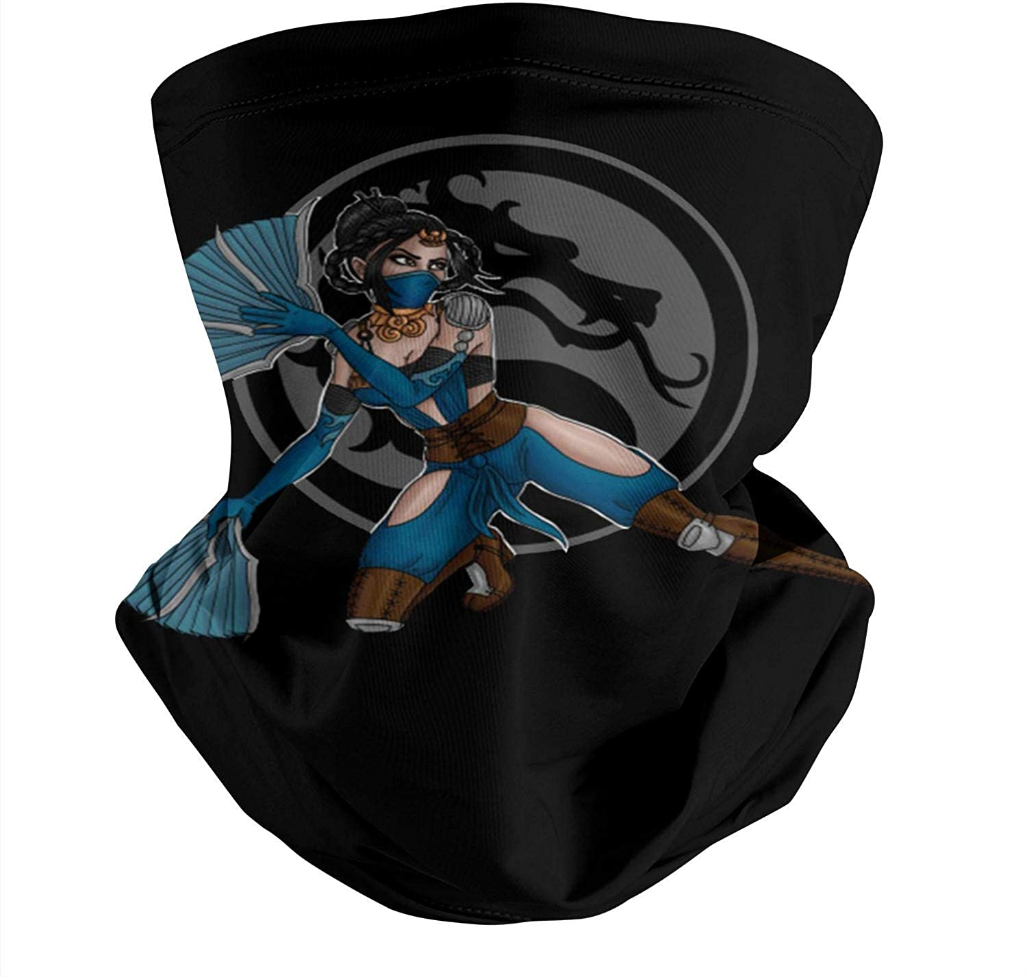 Unisex Mortal Kombat Kitana Neck Face Cover Funny Multifunctional