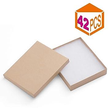 Amazon.com: Mesha 42 Pcs Cajas de Joyería 6 x 5 x 1 inches ...