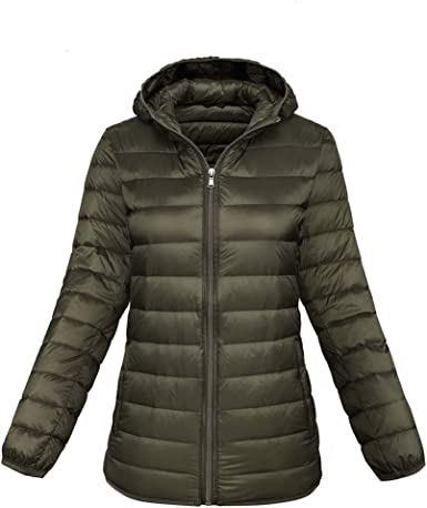 Cromoncent Mens Lightweight Plus Size Stand Collar Puffer Packable Down Jacket Coat