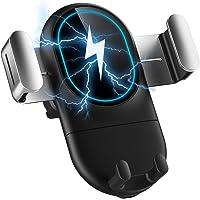 COOSEON Soporte para Cargador de Coche inalámbrico, Soporte para teléfono con Clip automático, Carga rápida, Compatible…