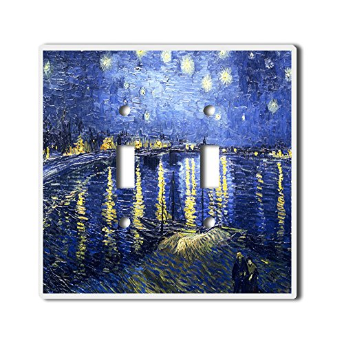 Light Switch Double Toggle Wall Plate Cover By InfoposUSA Van Gogh Over The - Cover Rhone