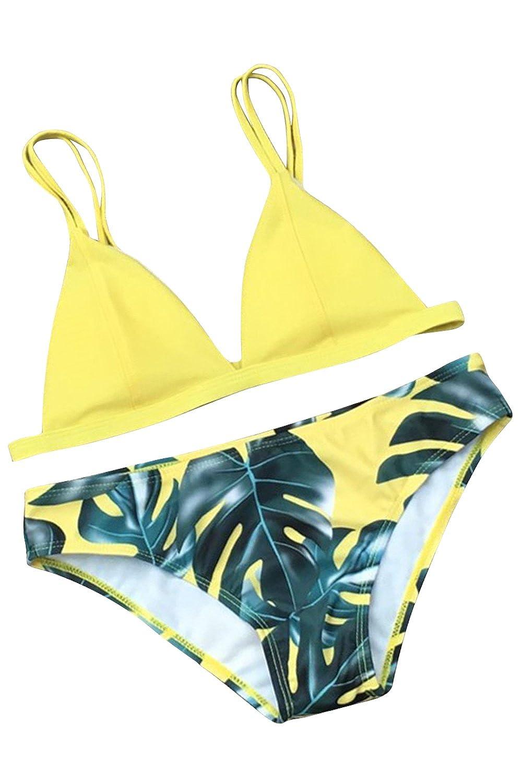 Bikini Damen Sets Zweiteiler Bademode Badeanzug Strand Sommer