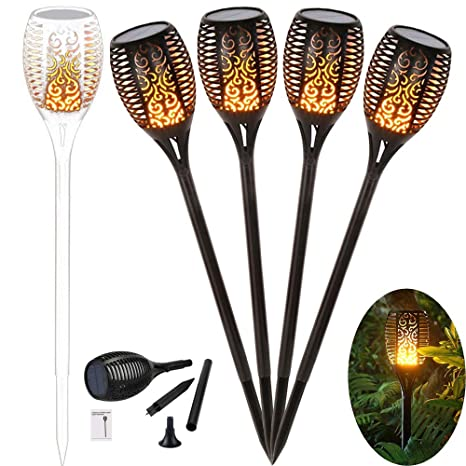 G/ärten Solar Garten Star Fackeln 96 LED Gartenleuchten Outdoor Solar Spotlight IP65 Wasserdicht f/ür Hinterh/öfe mit USB Aufladen Rasen Beleuchtung