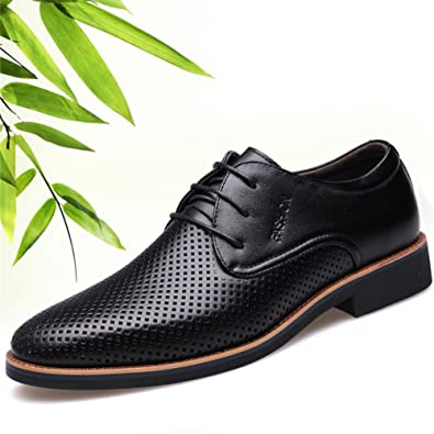 Shoes Men's Shoes Leather Spring Summer Fall Comfort Formal Shoes Lace-up For Casual Black (Color : Brown Size : 38)