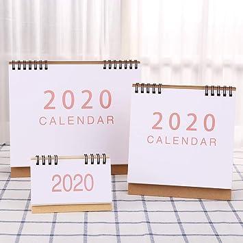 Fewxdsad escritorio de pie papel 2020 doble bobina Calendario Memo ...