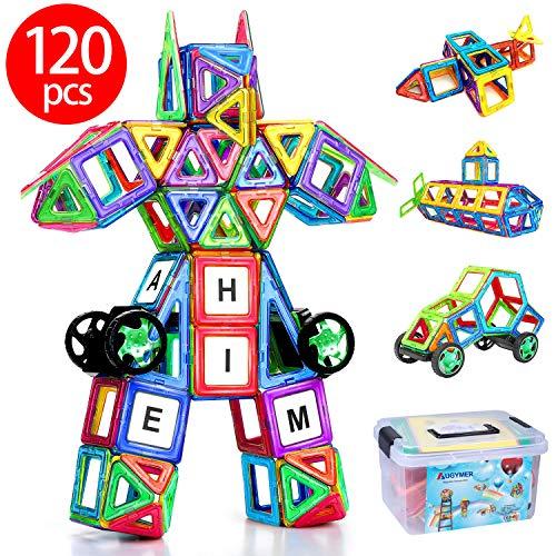 자석 블럭 자석 교육 완구 아이 자석 블럭 자석 블록 76 개의 다른 바퀴 반 파트 44 개의 AUGYMER 수납 케이스 포함 / Magnet Block Magnet Educational Toys Children`s Magnet Block 76 pcs Magnetic Block 44 other wheels and panel parts with ...