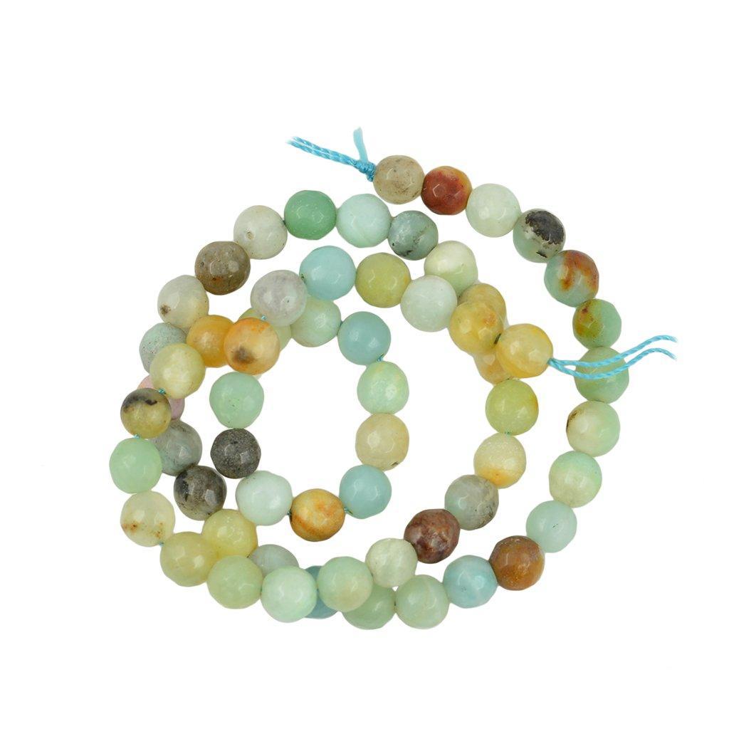 Gazechimp Perle Pierre ite Naturelle Ronde en Vrac pour Collier Bracelet Bijoux DIY