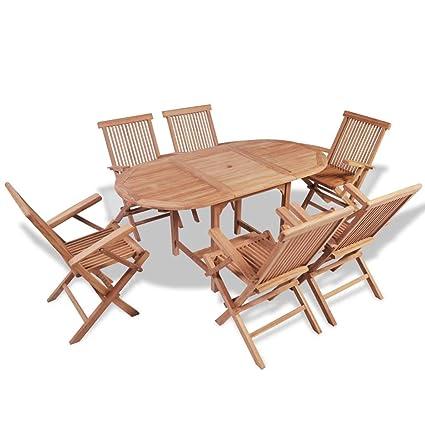 Festnight- Conjunto de Muebles de Jardín de Comedor Muebles ...