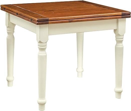 Mesa cuadrada extensible de madera maciza de tilo – Estilo Country ...
