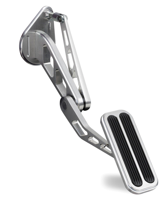 Lokar BAG-6115 Brushed Billet Aluminum Throttle Pedal with Rubber