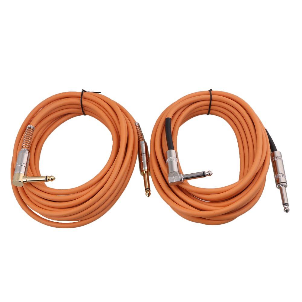 yibuy 6 m largo PVC Vivienda Cable Patch Guitarra eléctrica Cable de cobre alambre de sonido 1/4