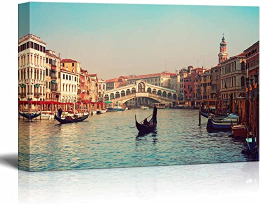 Canvas pictures Panorama City Venice Wall Pictures Living Room XXL