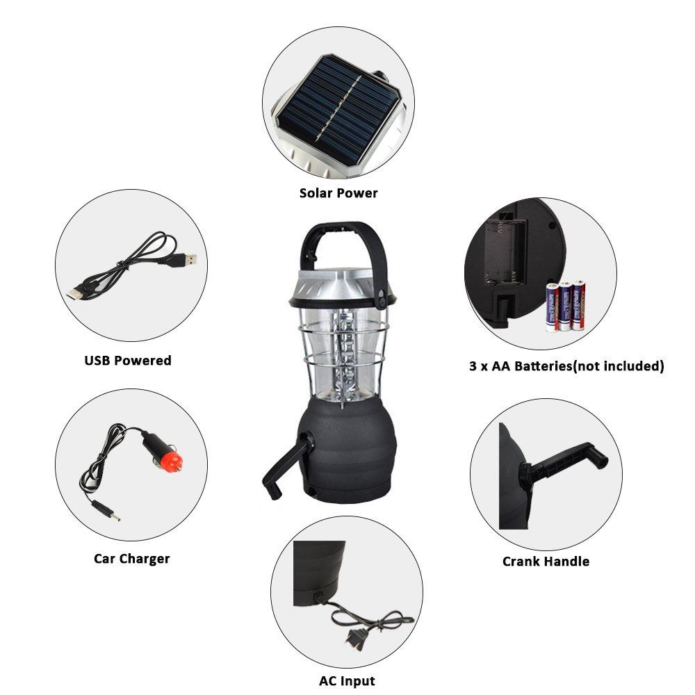 Amazon.com: roovon linterna Solar LED lámpara linterna de ...