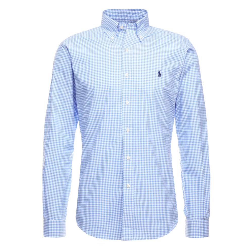 Ralph Lauren 710705269 Camicie Uomo Blue/White Check XL: Amazon.es ...