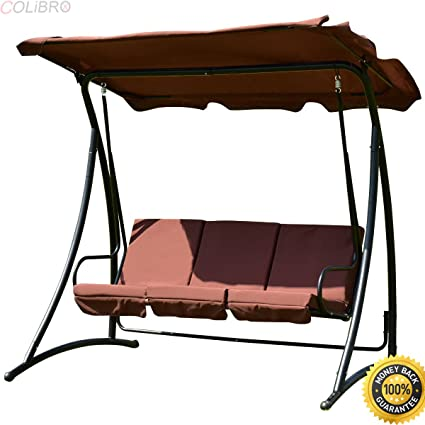 Amazon Com Colibrox Outdoor Patio Swing Canopy 3 Person