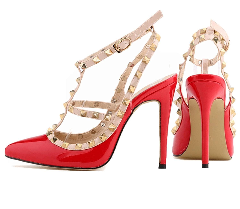 messieurs et mesdames euochengqus fashion high heeled orteil hasp sandales fines sandales hasp rivet, talons de chaussures de femmes excellents faire pleineHommes t usage de matériel humain ab8387 frontaliers fc2f5a