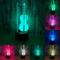 RUMOCOVO® Violonchelo Lámpara De Mesa Creativa LED 3D