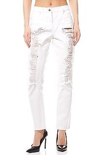Aniston Hose Damen Jeans im leichten Used Look Denim