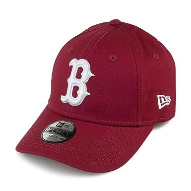 7d2ae4183efb New Era Casquette Enfant 9FORTY League Essential Boston Red Sox Rouge Jeune  Ajustable